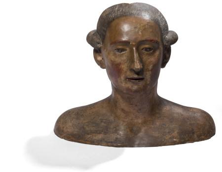 École FRANÇAISE du XIXe siècle   - Buste de gentilhomme du XVIIIe siècle  - Terre [...]