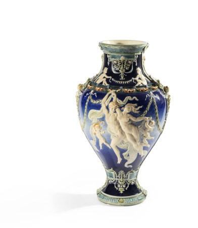 Louis-Robert CARRIER-BELLEUSE (1848 - 1913) pour CHOISY-LE-ROI  - Vase de forme [...]