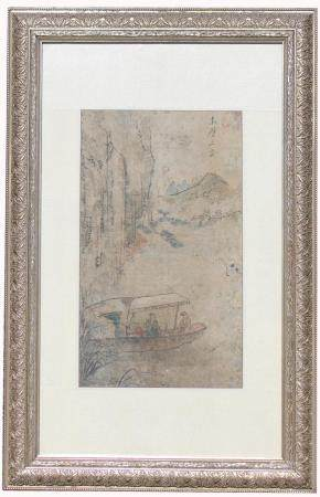 Early Antique Chinese Scroll Painting, Signed