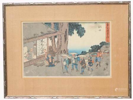 Hiroshige, Japanese Woodblock Print