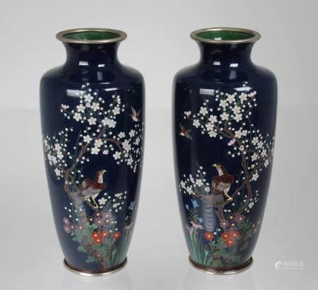 (2) Japanese Cloisonne Vases
