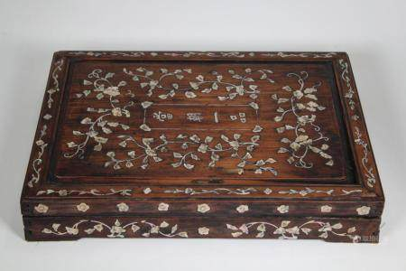 Chinese Hardwood/Mother of Pearl Inlaid Box