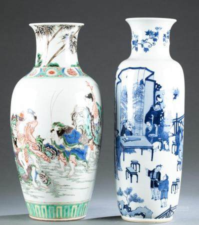 (2) 20th C. Large Chinese Porcelain Vases