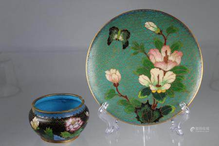 (2) Chinese Cloisonne Articles