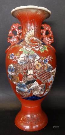 grosse China-Vase, handbemalt, H-45 cm
