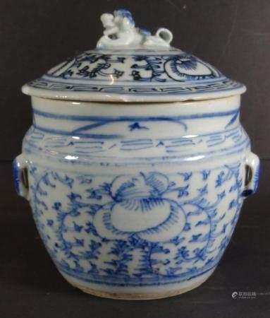Ìngwertopf, China, Blaumalerei