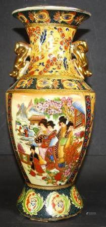 China-Vase mit Emaillemalerei, figürlich