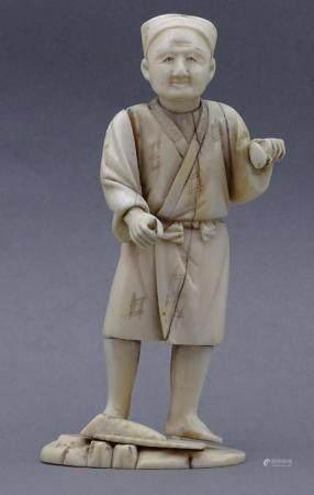Elfenbeinschnitzerei um 1880, Japan, Bauer