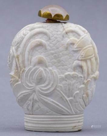 kl. Snuff bottle oder ähnliches, weiss, China