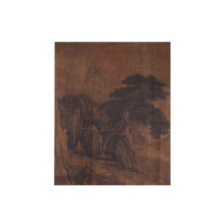 马和之 山水 绢本镜心
