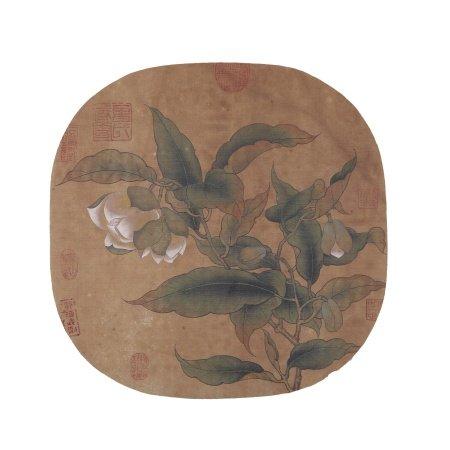 佚名 花卉 绢本镜心