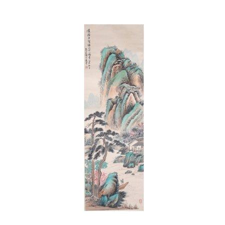 吴山石 山水 纸本立轴