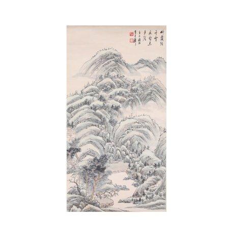 黄君璧 山水 纸本立轴
