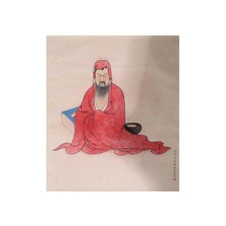 陈缘督  红衣罗汉