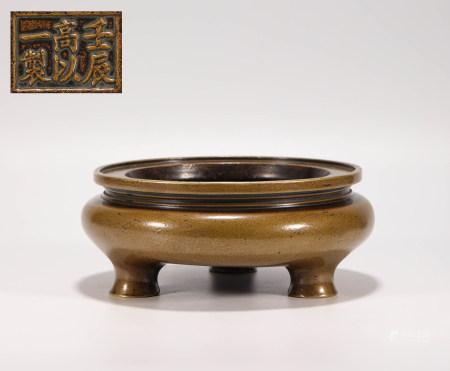 明代铜制三足炉