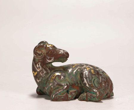 漢代青銅錯金銀羊