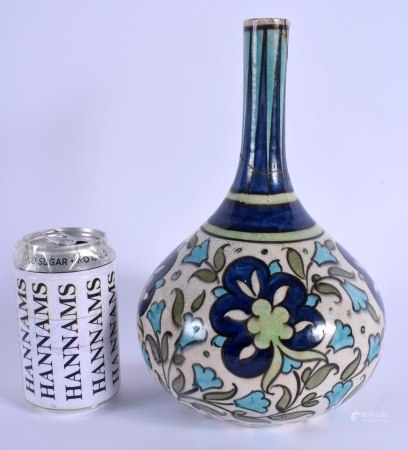 AN ARTS AND CRAFTS POTTERY VASE painted in the Persian style. 26 cm high.