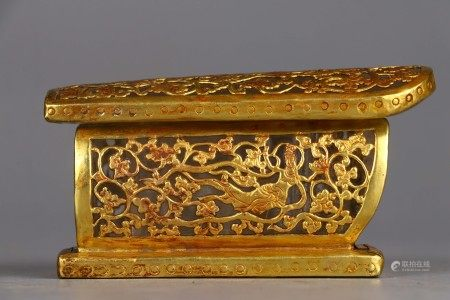 Gold Inlaid Crystal Coffin Liao Dynasty