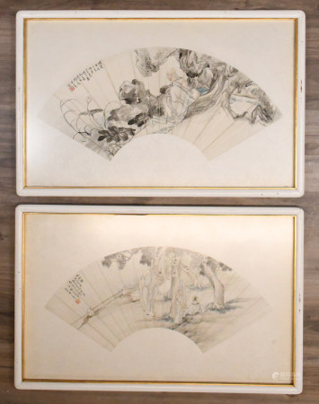Hu Shi Yan and Other Artists Fan Pages with Frames