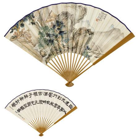 馬駘 (1886-1938)、伊立勳(1857-1942) 山水、隸書