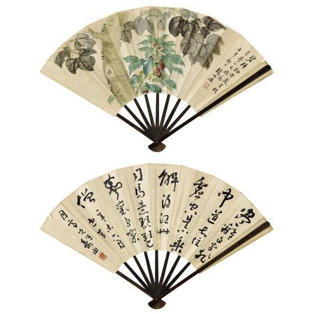 趙叔孺 (1874-1945)、夏壽田(1870-1935) 花卉、行書