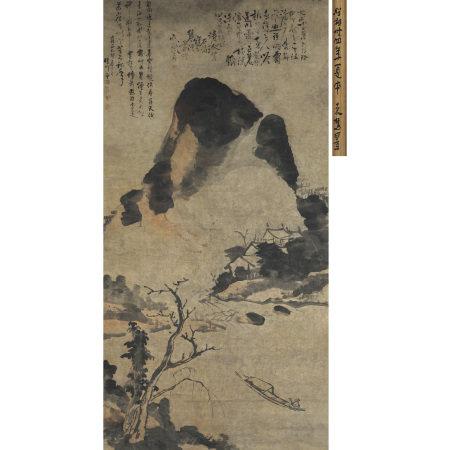 石濤 (1642-1708) 水墨山水軸