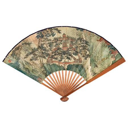溥儒 (1896-1963) 秋山蕭寺圖