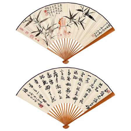 吳湖帆(1894-1968)、蕭退庵 (1865-1958) 竹石圖