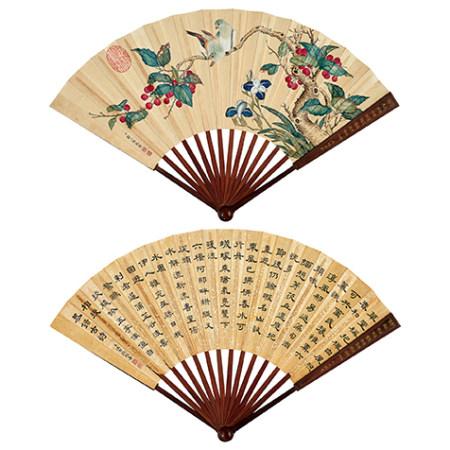 鄒一桂(1686-1772)、汪由敦 (1692-1758) 花鳥圖
