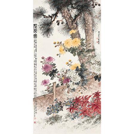 張韶石 (1913-1991) 松菊圖