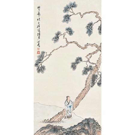 溥儒 (1896-1963) 松風高士