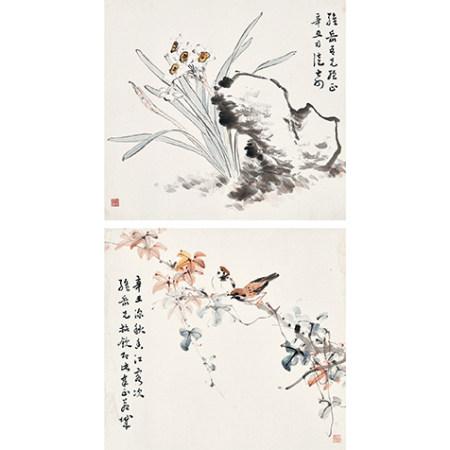 司徒奇 (1907-1997) 花鳥兩幀