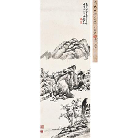 戴熙 (1801-1860) 墨筆山水