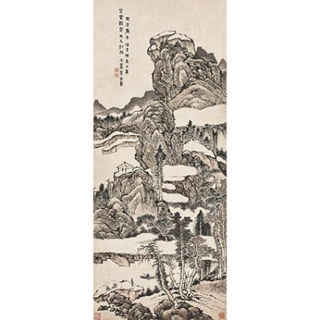 李吉壽 (不詳) 擬古山水