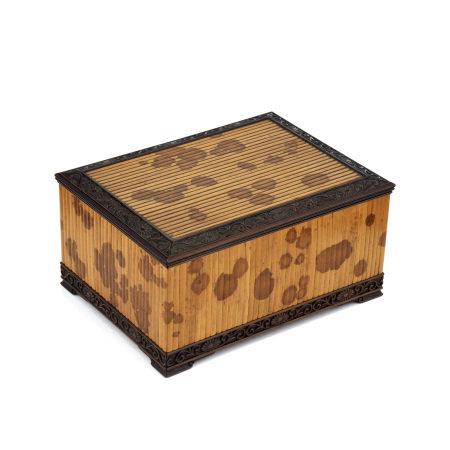 斑竹貼紫檀小箱