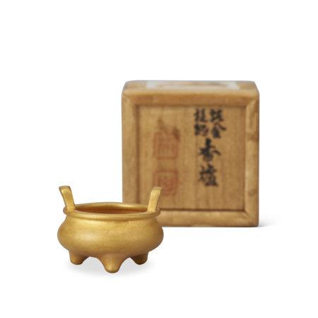 純金豆香爐(共箱)