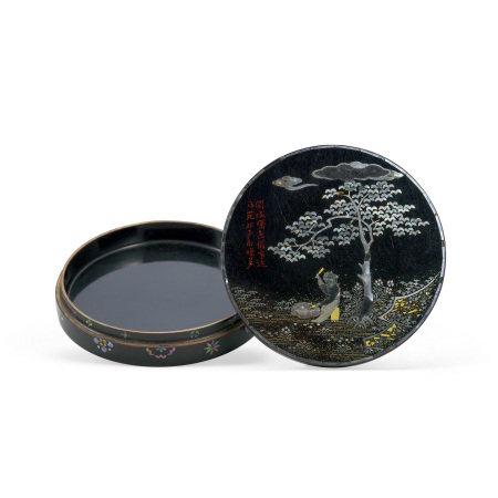 清 螺鈿跕打香盒