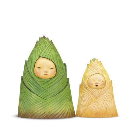 Moe Nakamura 中村萌 Bamboo Shka 「竹筍母子」玩偶