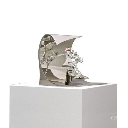Hajime Sorayama 空山基 Classic Robot Surf (Silver) 衝浪機器人