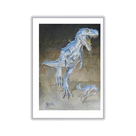 Hajime Sorayama 空山基 T-Rex Print① 恐龍系列版畫之一