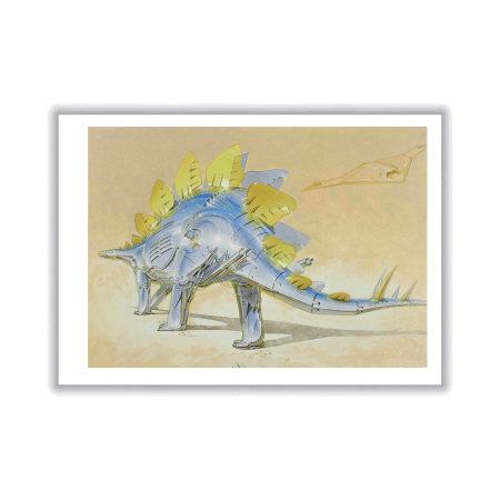 Hajime Sorayama 空山基 T-Rex Print④ 恐龍系列版畫之四