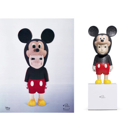 Satoru Koizumi 小泉悟 With Mickey Sculpture and Print 米奇玩偶以及版畫