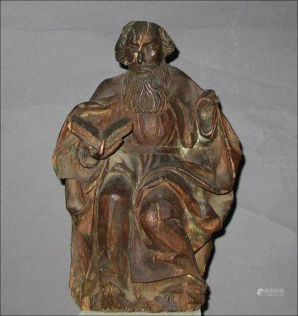 German Renaissance Lindenwood figure of Saint  Circle of Veit Stoss  16thc  E D Kinzinger est  FR3SH