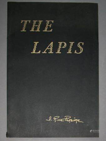 Periera,   THE LAPIS   folio, Limited, Signed 1957    FR3SH