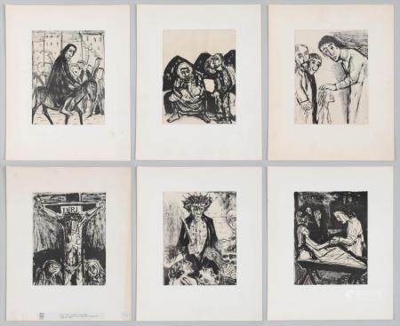 OTTO DIX, group of (6) lithographs, 20C. FR3SH.
