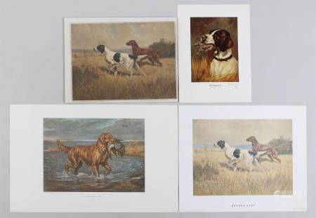 After EDWIN MEGARGEE, group of (4) unframed prints, 19C/20C. FR3SH.