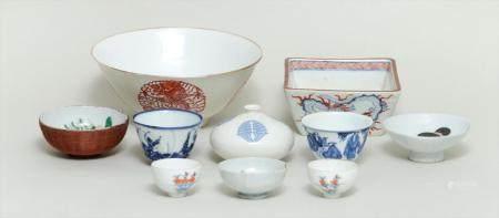 Group of (10) Asian porcelain pieces. FR3SH.