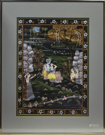 A 20TH CENTURY INDIAN PAINTING