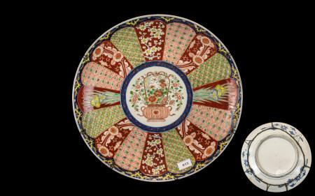 Large Imari Meiji Period Charger, circa