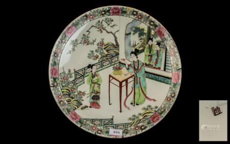 Large Japanese Meiji Period Famille Rose